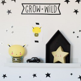 Lampada notturna stella gialla A Little Lovely Company Poppykidshop
