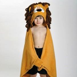 Asciugamano con cappuccio e mani versione leone