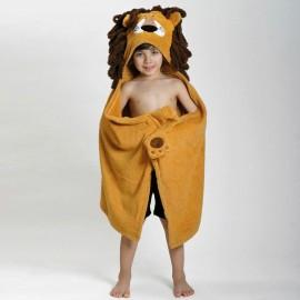 Prodotti bagnetto – Asciugamano con cappuccio e mano Leone Zoocchini Poppykidshop