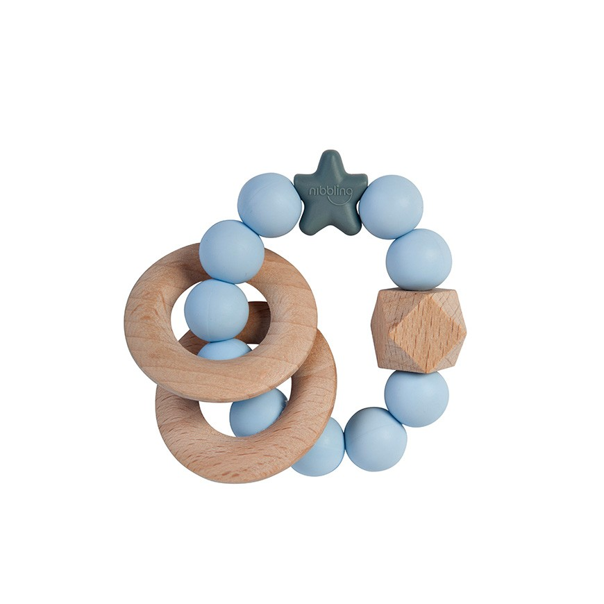 Massaggiagengive E Sonaglio 2 In 1 Azzurro Nibbling