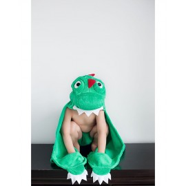 Prodotti bagnetto – Asciugamano con cappuccio e mano DInosauro Zoocchini- Poppykidshop