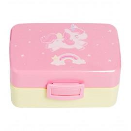 Contenitore porta merenda A Little Lovely Company unicorno- Poppykidshop