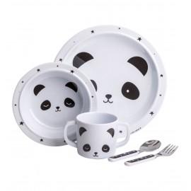 01-Set pappa panda A Little Lovely Company completo– Set prima pappa PoppyKidshop