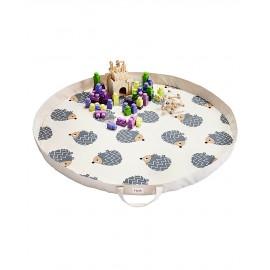 Tappeto gioco bambini e borsa portagiochi 3sprouts riccio- Poppykidshop
