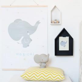Poster cameretta elefante A Little Lovely Company - Poppykidshop