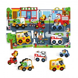 Montessori First Puzzle the city Headu confezione -Poppykidshop